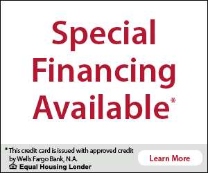 speciali financing available from Wells Fargo